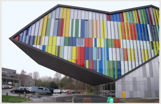 Amazing cantilevered music academy MWD in Dilbeek 4