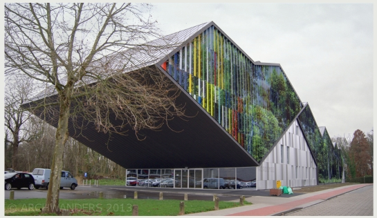 Amazing cantilevered music academy MWD in Dilbeek